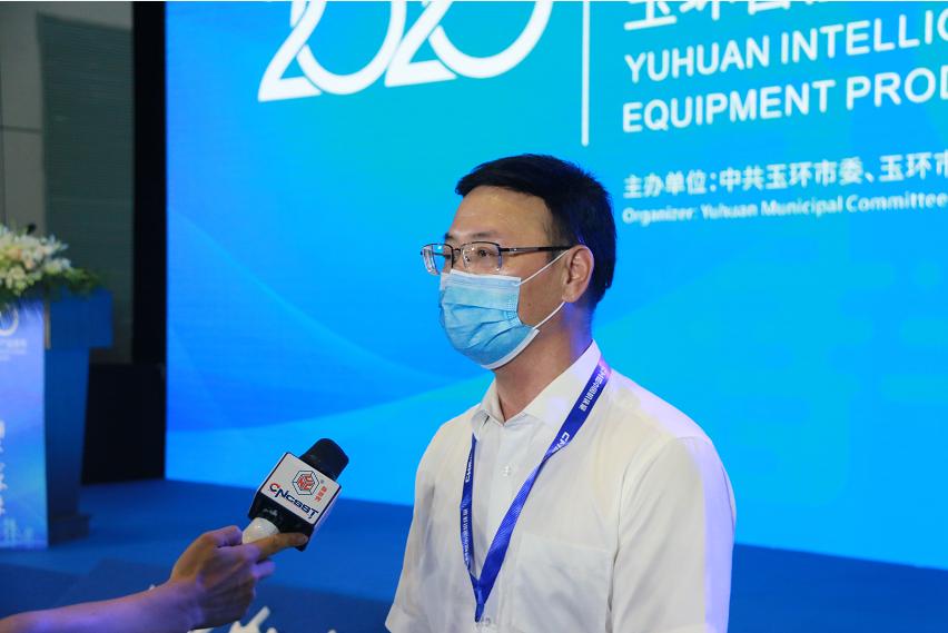 玉环市副市长蔡木贵接受制造行业媒体采访