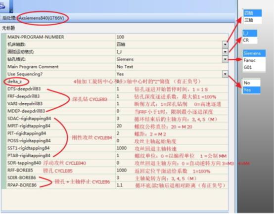 cimatron软件关于西门子钻孔循环的编程说明