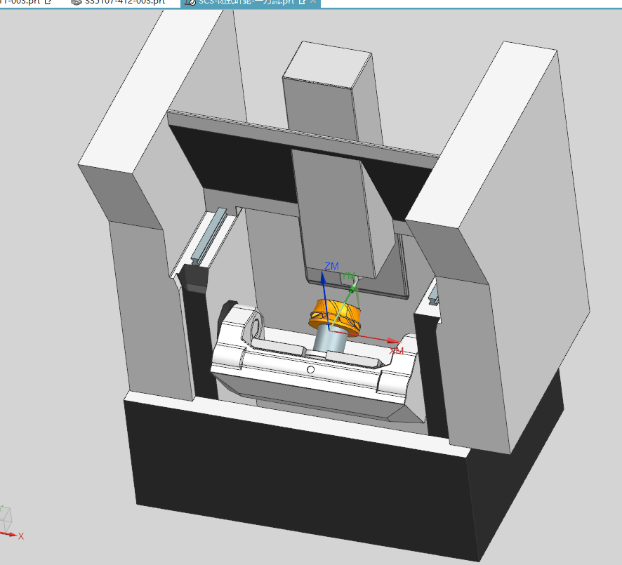 UG NX 5轴–封闭叶轮编程–6–带刀路–可观摩